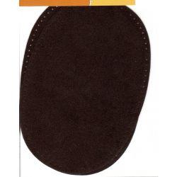 2 Renforts coude genou à coudre Coloris marron Imitation Daim