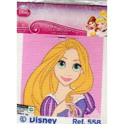 Kit Canevas Raiponce 12 x 12 cm Disney