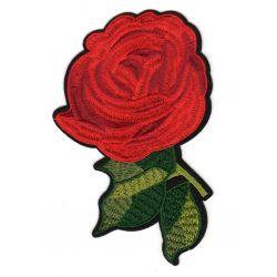 Ecusson Thermocollant Fleur Rose Rouge 10 x 15 cm