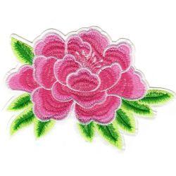 Ecusson Thermocollant Fleur Pivoine Rose 13 x 17 cm