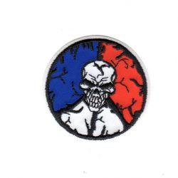 Ecusson thermocollant Tête de Mort France 5 x 5 cm
