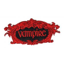 Ecusson Thermocollant VAMPIRE Coloris ROUGE