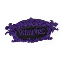 Ecusson Thermocollant VAMPIRE Coloris VIOLET
