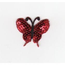 Ecusson Thermocollant Petit PAPILLON Coloris Rouge