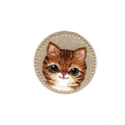 Ecusson Thermocollant MEDAILLON CHAT