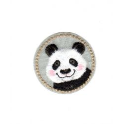 Ecusson Thermocollant MEDAILLON PANDA