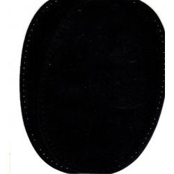 2 Renforts coude genou à coudre Coloris Noir Imitation Daim