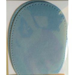 2 Renforts coude genou à coudre Coloris Bleu Coton