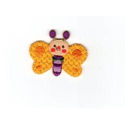 Ecusson thermocollant Papillon Coloris Jaune