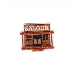 Ecusson Thermocollant Saloon 3,50 x 4,50 cm