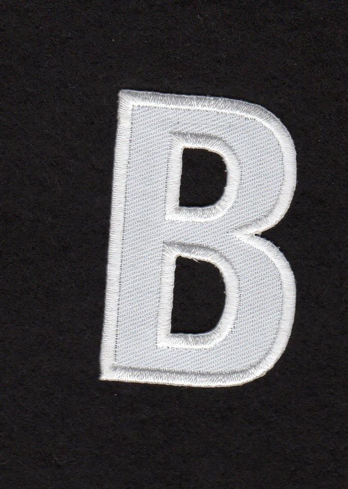 Ecusson thermocollant Alphabet Lettre S Coloris Blanc