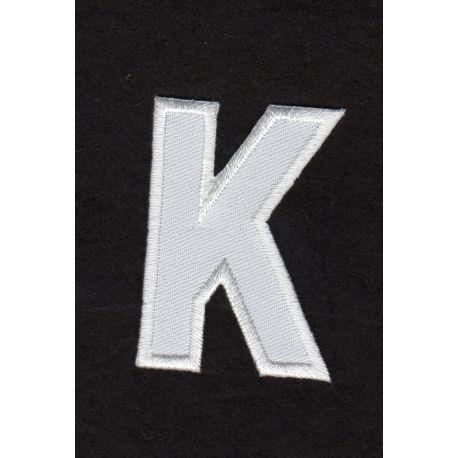 Ecusson thermocollant Alphabet Lettre K Coloris Blanc - La maison d...