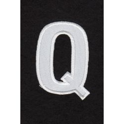 Ecusson thermocollant Alphabet Lettre q Coloris Blanc
