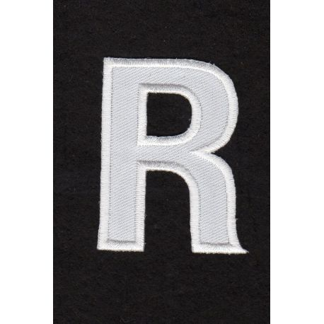 Ecusson thermocollant Alphabet Lettre R Coloris Blanc - La maison d...