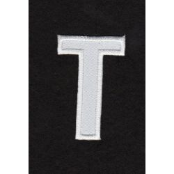Ecusson thermocollant Alphabet Lettre t Coloris Blanc