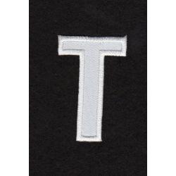 Ecusson thermocollant Alphabet Lettre T Coloris Blanc - La maison d...