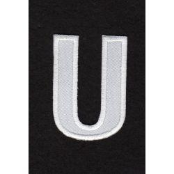 Ecusson thermocollant Alphabet Lettre U Coloris Blanc