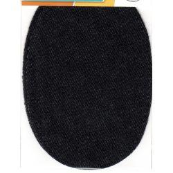 2 Renforts coude genou à coudre Façon Jeans Noir Coton
