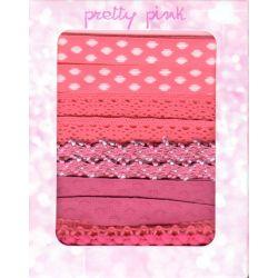Pretty Pink : assortiment de 5 rubans, 1 mètre de chaque