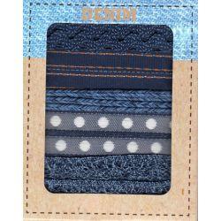 Denim Blue : Assortiment de 5 rubans, 1 mètre de chaque