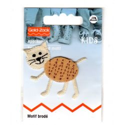 Ecusson Thermocollant Chat Beige