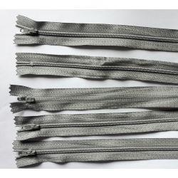 5 FERMETURES eclair FINE POLYESTERE 30 cm COLORIS GRIS CLAIR pochette coussin jupe