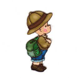 Ecusson Thermocollant Enfant Rétro Explorateur