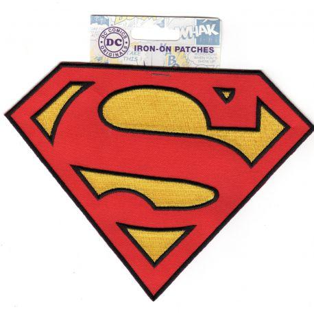 Ecusson Thermocollant SUPERMAN INSIGNE Grand modèle REF 2848