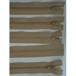 FERMETURE eclair FINE POLYESTERE 20 cm COLORIS BEIGE pochette coussin jupe