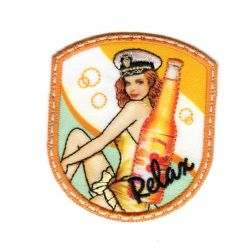 Ecusson Thermocollant Pin Up Vintage Relax