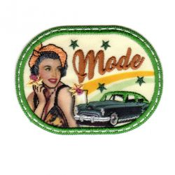 Ecusson Thermocollant Pin Up Vintage Mode