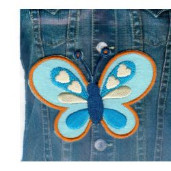 Ecusson Thermocollant PAPILLON BLEU