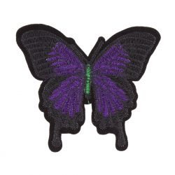 Ecusson Thermocollant Grand Papillon Coloris Violet