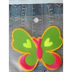 Ecusson Thermocollant PAPILLON FLUO