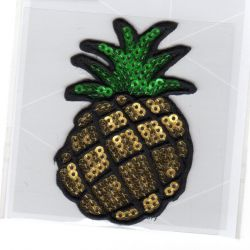 Ecusson Thermocollant Ananas Paillettes