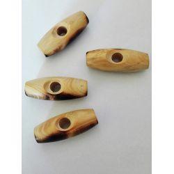 4 Boutons Buchette en bois 30 mm Coloris Naturel