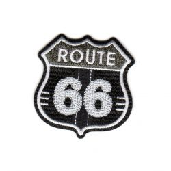 Ecusson Thermocollant Route 66 Coloris Noir
