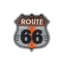 Ecusson Thermocollant Route 66 Coloris Gris