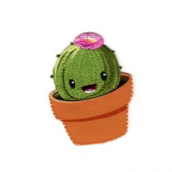 Ecusson Thermocollant Cactus dans un pot