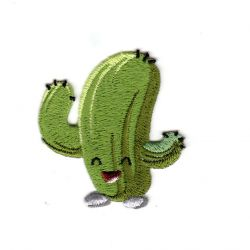Ecusson Thermocollant Cactus Heureux