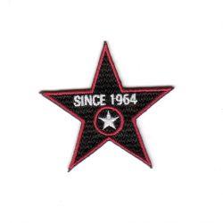 Ecusson Thermocollant Etoile Since 1964 Coloris Noir