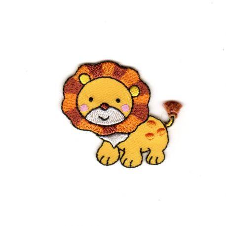 Ecusson Thermocollant Lion Trop Mignon