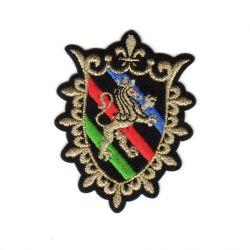 Ecusson Thermocollant Blason Royal Lion Fleur de Lys