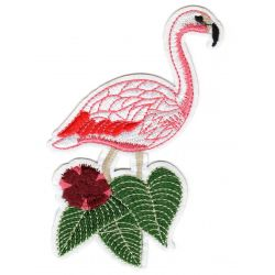 Ecusson Thermocollant Flamant Rose 16 x 8 cm
