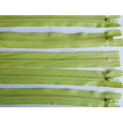 5 FERMETURES eclair FINE POLYESTERE 20 cm COLORIS ANIS pochette coussin jupe
