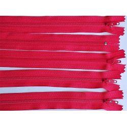 FERMETURE eclair FINE POLYESTERE 20 cm COLORIS ROUGE CLAIR pochette coussin jupe