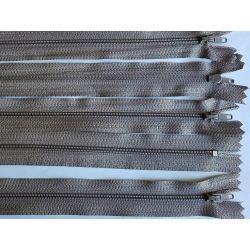 FERMETURE eclair FINE POLYESTERE 20 cm COLORIS GRIS BEIGE pochette coussin jupe