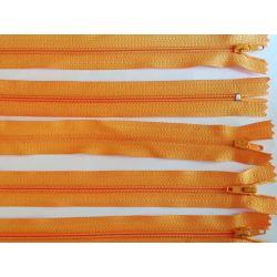 5 FERMETURES eclair FINE POLYESTERE 20 cm COLORIS JAUNE pochette coussin jupe