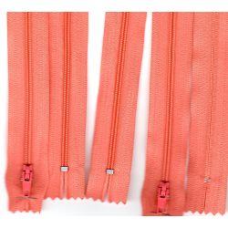 FERMETURE eclair FINE POLYESTERE 20 cm COLORIS SAUMON pochette coussin jupe
