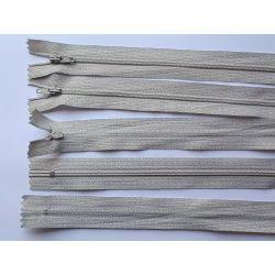 5 FERMETURES eclair FINE POLYESTERE 20 cm COLORIS BEIGE CLAIR pochette coussin jupe